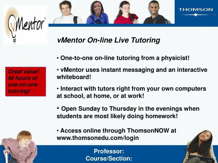 vMentor On-line Live Tutoring