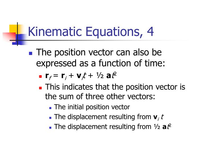 Kinematic Equations, 4
