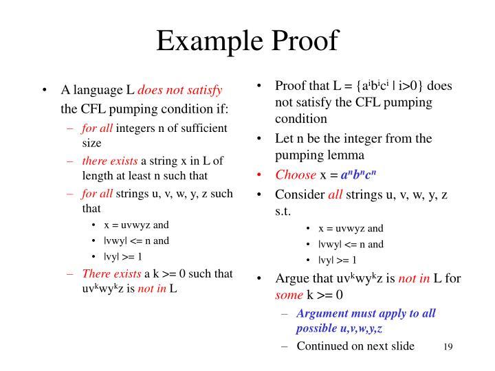 A language L