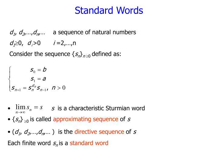 Standard Words