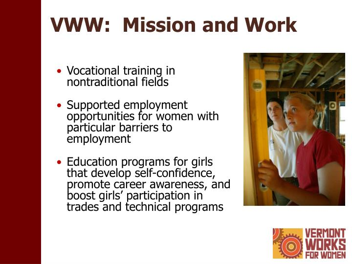 Vww mission and work