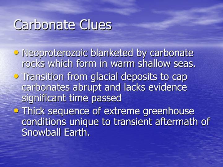 Carbonate Clues