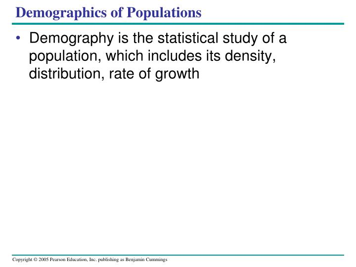 Demographics of Populations