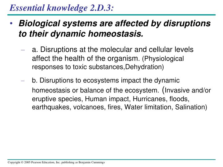 Essential knowledge 2.D.3: