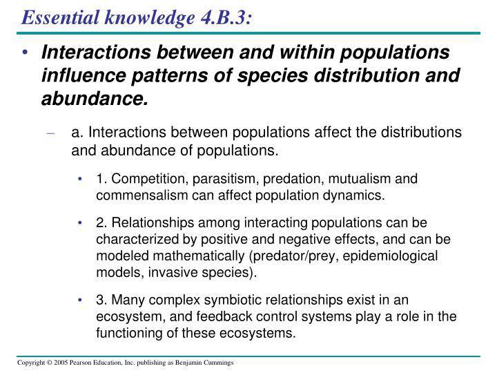 Essential knowledge 4.B.3: