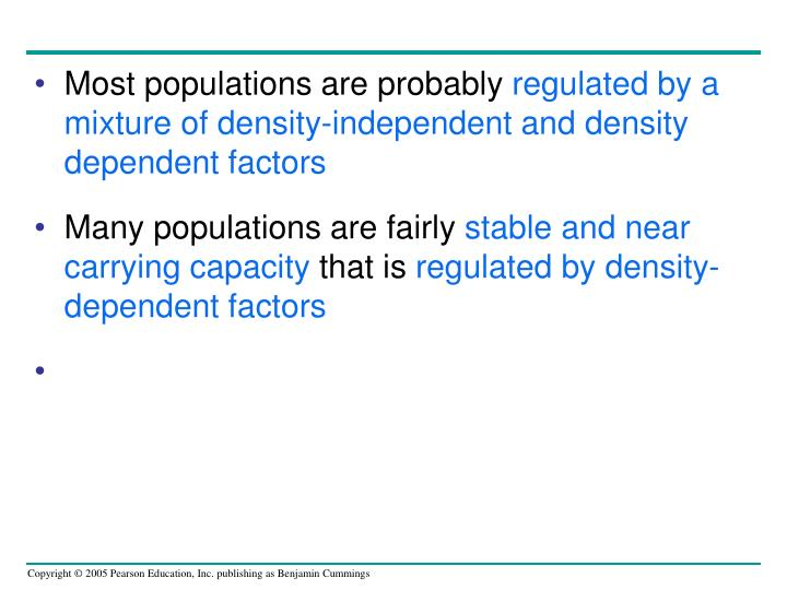 Most populations are probably