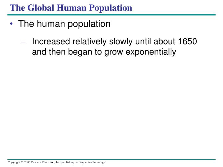 The Global Human Population