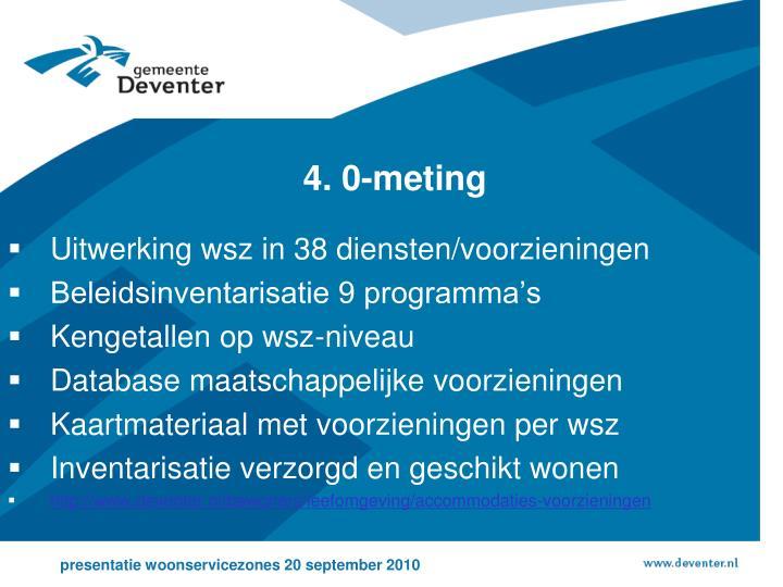 4. 0-meting