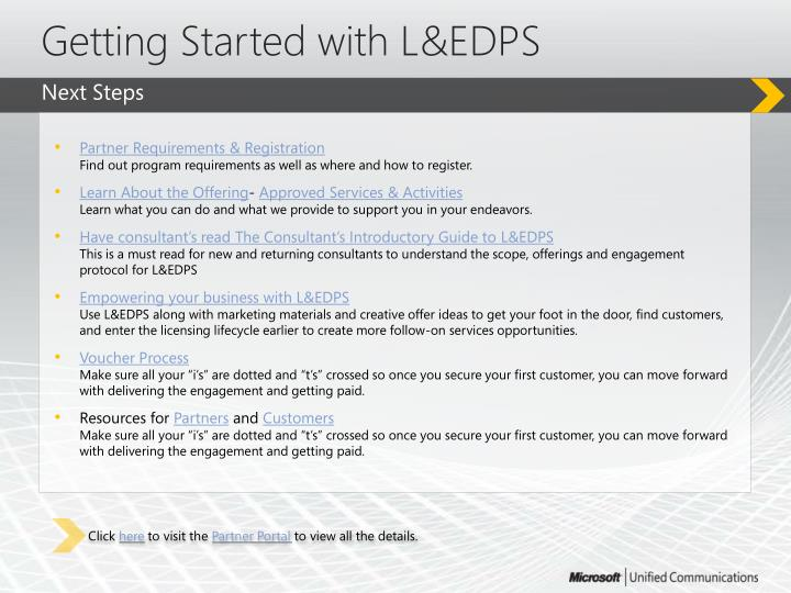 Getting Started with L&EDPS
