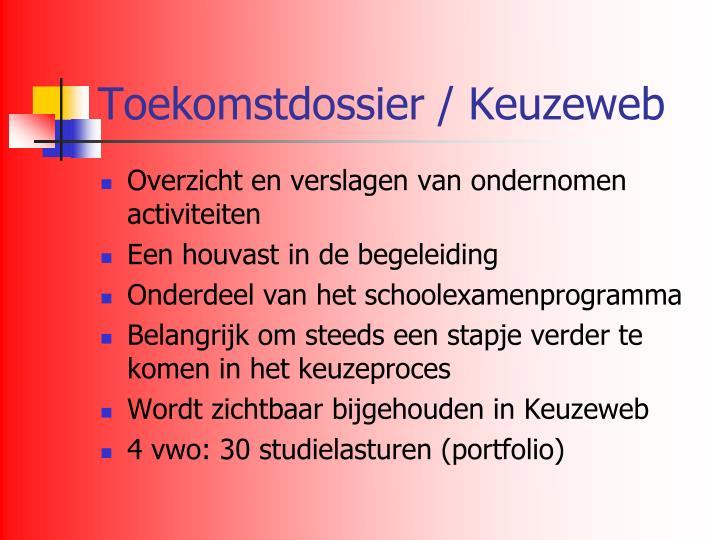 Toekomstdossier / Keuzeweb