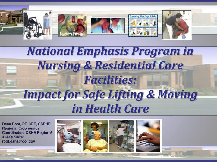 National Emphasis Program in Nursing & Residential Care Facilities: