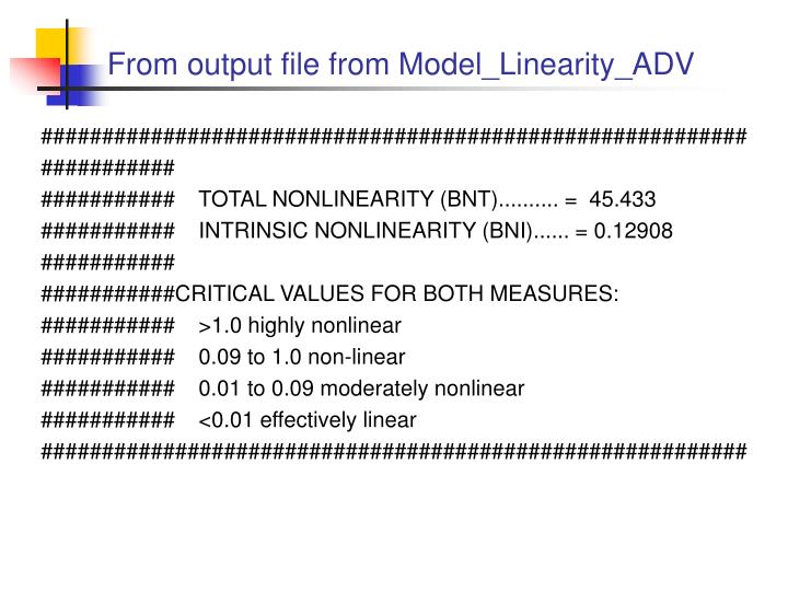 From output file from Model_Linearity_ADV