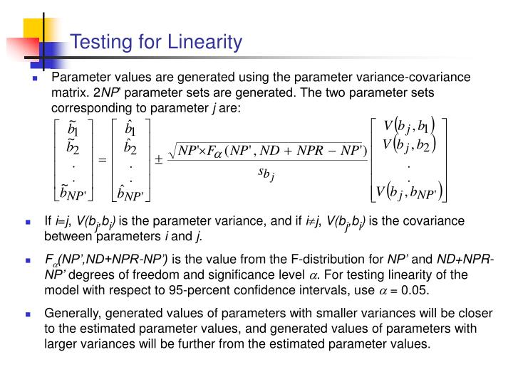 Testing for linearity1