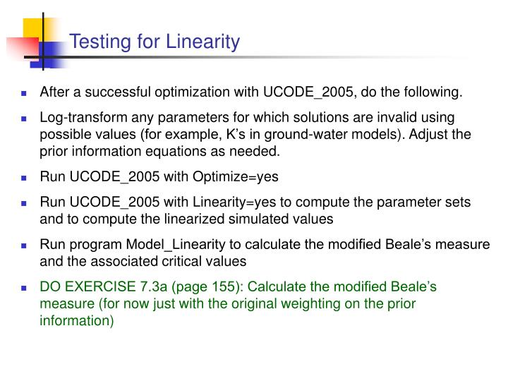 Testing for Linearity