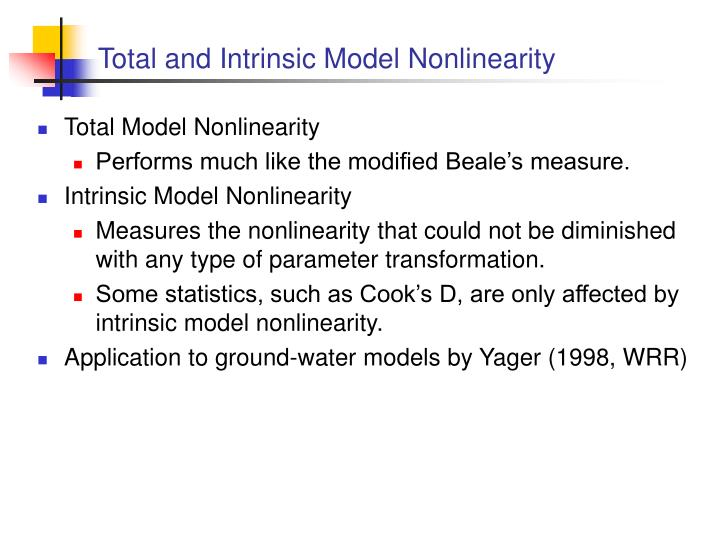 Total and Intrinsic Model Nonlinearity