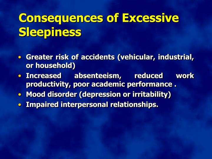 Consequences of Excessive Sleepiness