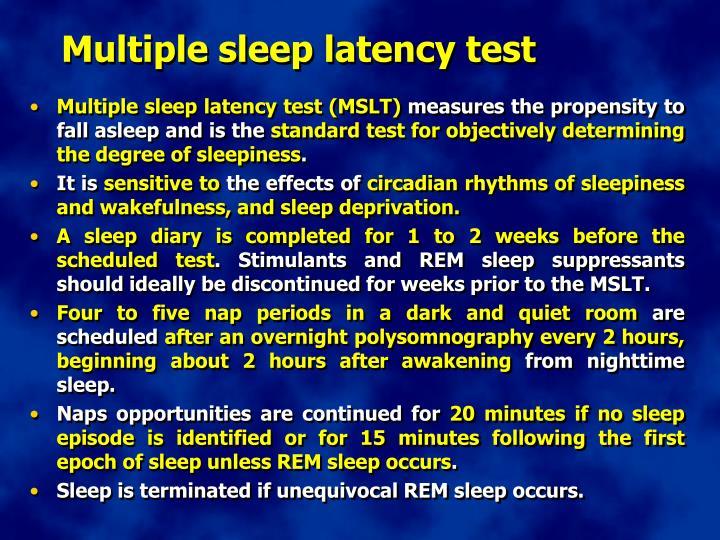 Multiple sleep latency test
