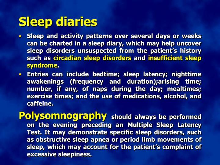Sleep diaries