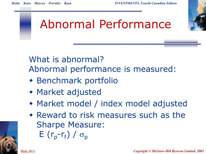 Abnormal Performance