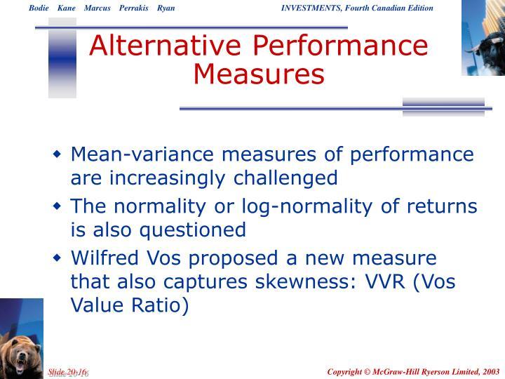 Alternative Performance Measures