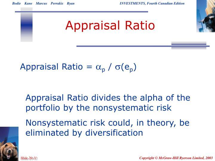 Appraisal Ratio