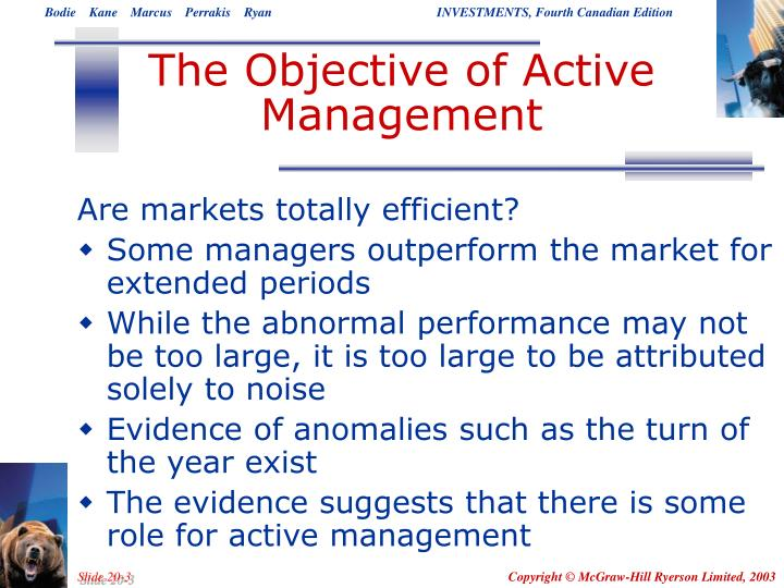 The Objective of Active Management