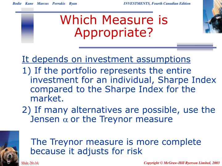 Which Measure is Appropriate?