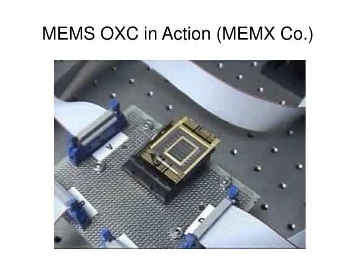 MEMS OXC in Action (MEMX Co.)
