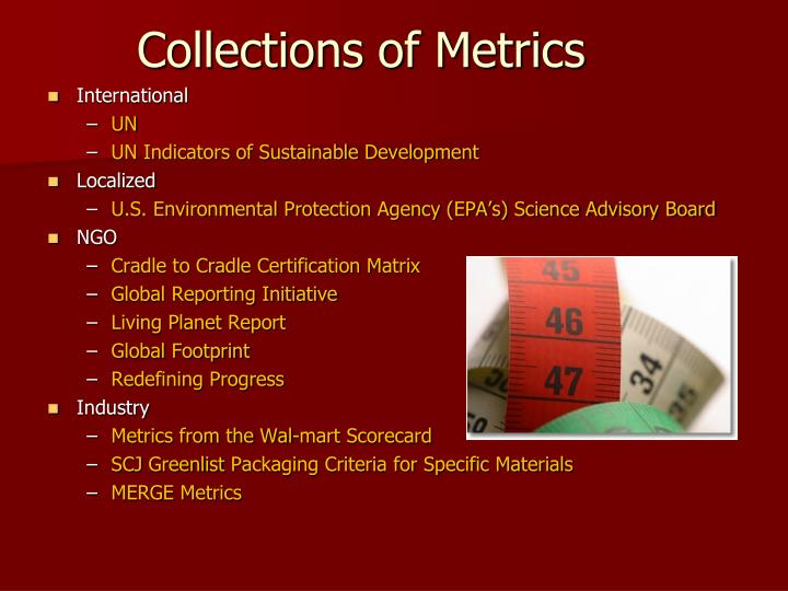 Collections of Metrics