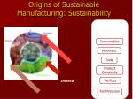 origins of sustainable manufacturing sustainability