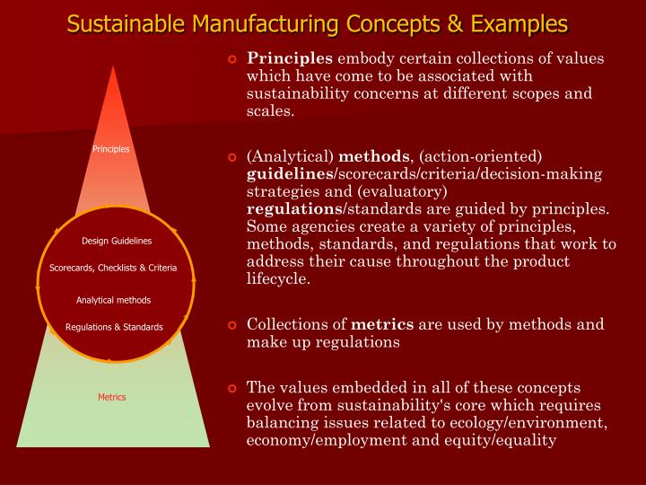 Sustainable Manufacturing Concepts & Examples