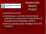 sustainable metrics project