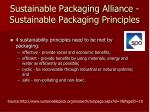 sustainable packaging alliance sustainable packaging principles