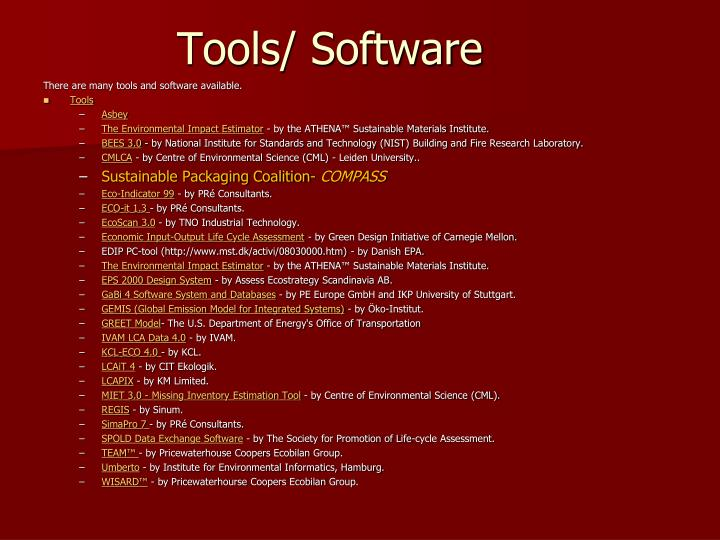 Tools/ Software