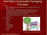 wal mart s sustainable packaging principles