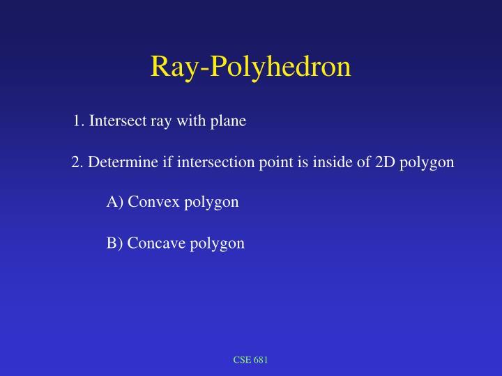 Ray-Polyhedron