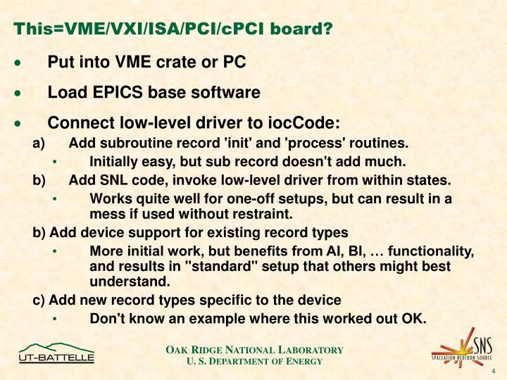 This=VME/VXI/ISA/PCI/cPCI board?