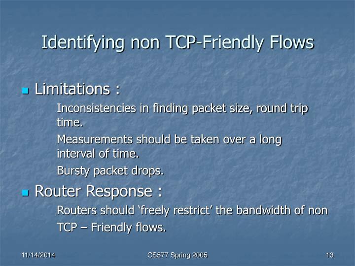 Identifying non TCP-Friendly Flows