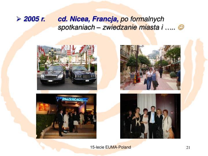 2005 r. cd. Nicea, Francja,