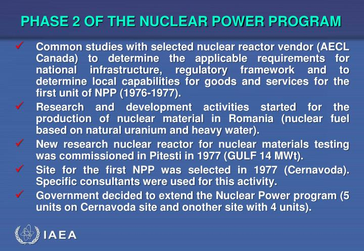 PHASE 2 OF THE NUCLEAR POWER PROGRAM