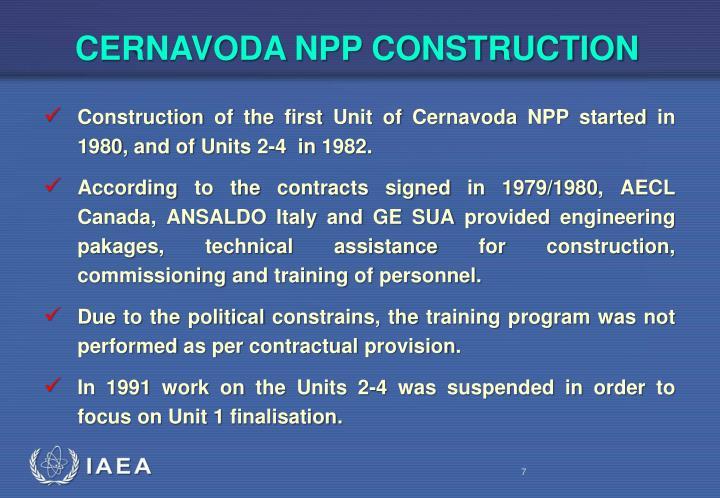 CERNAVODA NPP CONSTRUCTION
