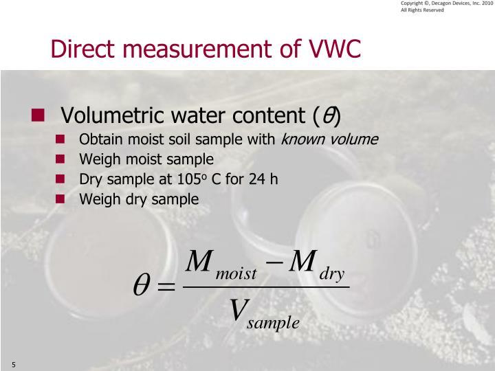 Direct measurement of VWC