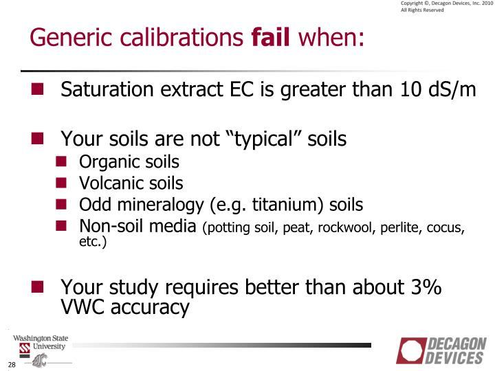 Generic calibrations