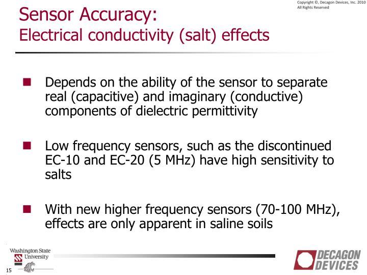 Sensor Accuracy: