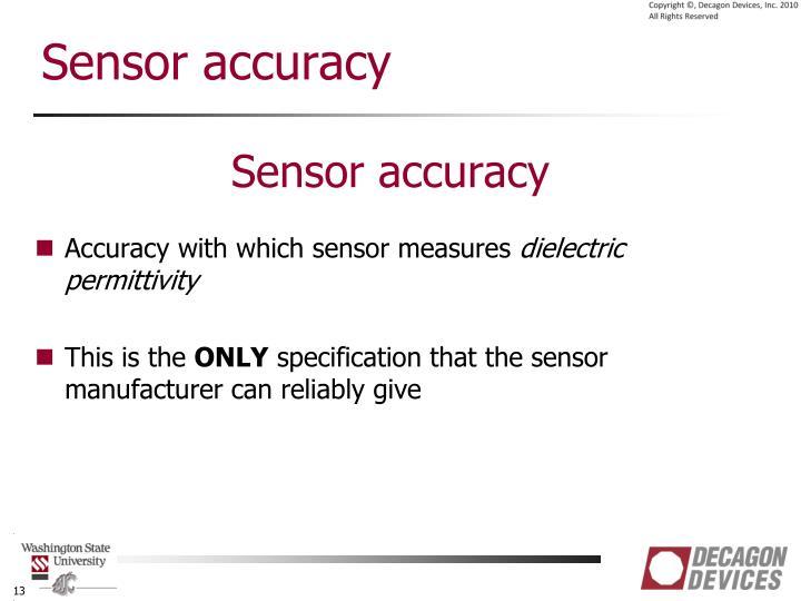 Sensor accuracy