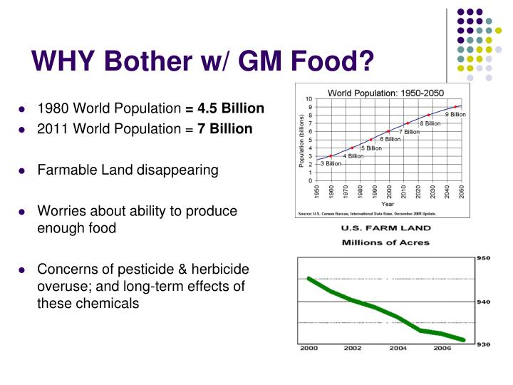 WHY Bother w/ GM Food?