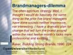 brandmanagers dilemma