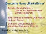 deutsche name markef hrer