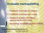 evaluatie merkopstelling