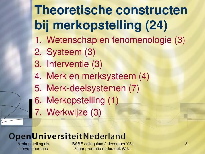 Theoretische constructen bij merkopstelling (24)